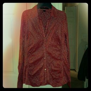 Like new red and gold button down by Express